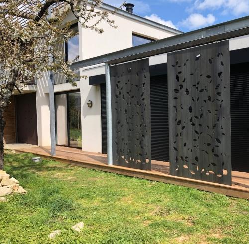 terrasse métallique design