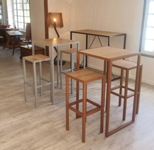 mobilier sur mesure bois et fer forgé