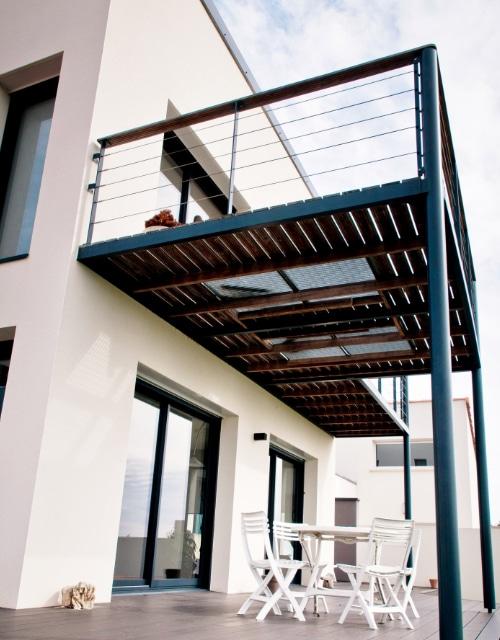 terrasse métallique sur plancher bois