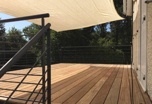 terrasse métallique en hauteur